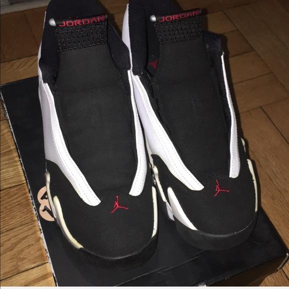 save off 97575 47b25 ⏳Mens Nike air Jordan 14 retro black toes w/ box